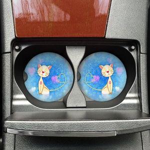 Accessories - Cute Kitty Car Coaster Set